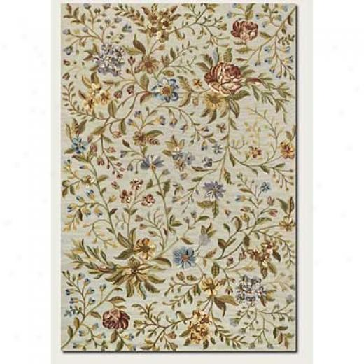 Couristan Eden 9 X 12 Spring Blooms Ivory Area Rugs