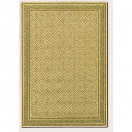 Couristan English Manor 5 X 8 Manchester Ivory Green Area Rugs