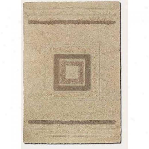 Couristan Epicss 4 X 5 Bloque Ivory Area Rugs