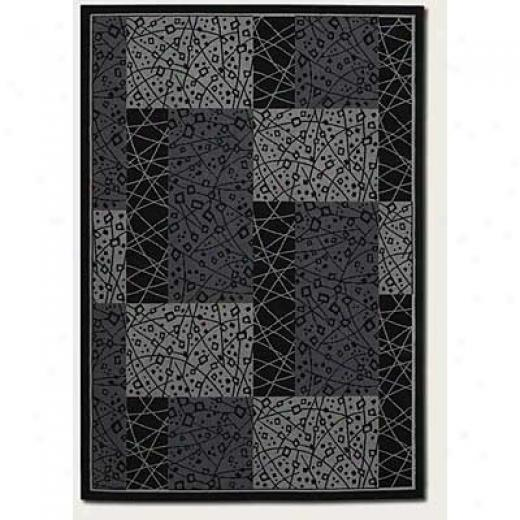 Couristan Everest 5 X 8 Moderna Ebony Area Rugs