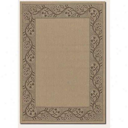 Couristan Five Seasons 4 X 5 Muskego Cream Chocilate Brown Area Rugs