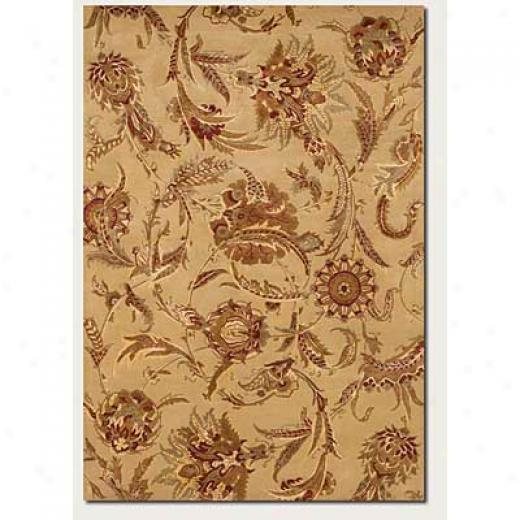 Couristan Givenry 2 X 8 Messenger Wild Orchids Ivory Area Rugs