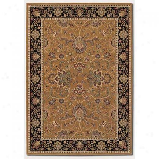 Couristan Izmir 5 X 8 Floral Bijar Medallion Gold Area Rugs