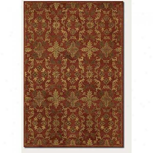 Couristan Jalore 5 X 8 Arabesque Blossom Rust Area Rugs