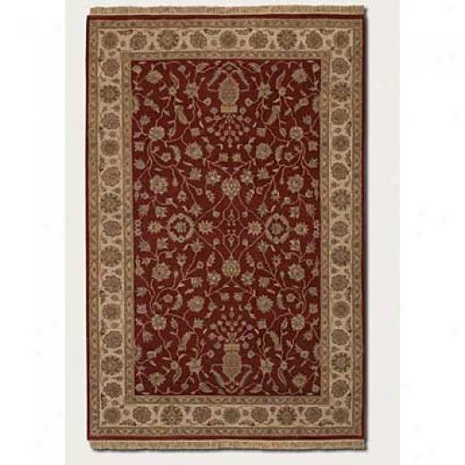 Couristan Jangali 4 X 5 Kerman Vase Red Ivory Area Rugs