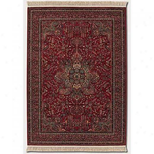 Couristan Kashimar 8 X 11 All Over Center Medallion Antique Red Area Rugs