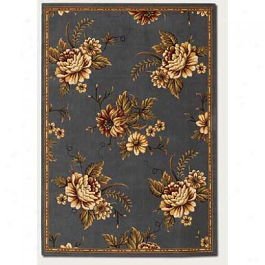 Couristan Lotus Garden 10 X 14 Star Lily Princess Blue Area Rugs