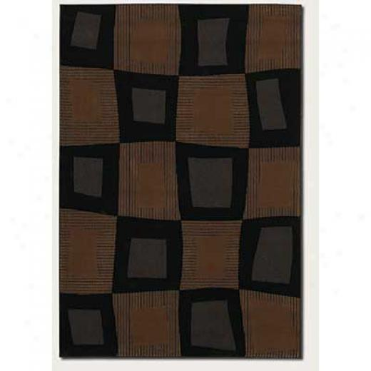 Couristan Metro Collection 2 X 4 Tessera Ebony Area Rugs