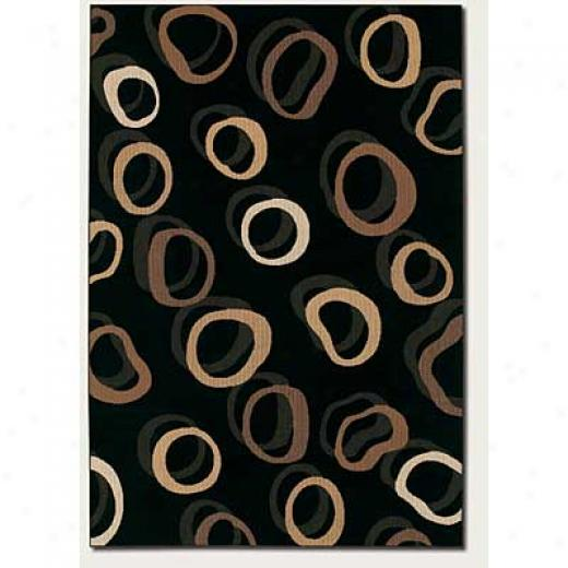 Couristan Metro Collection 2 X 4 Rhythmifs Ebony Area Rugs