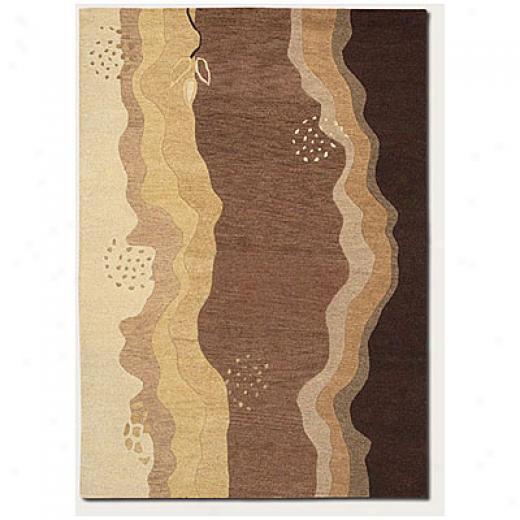 Couristan Oasis3  X 5 Desert Stream Bronze Mocha Area Rugs