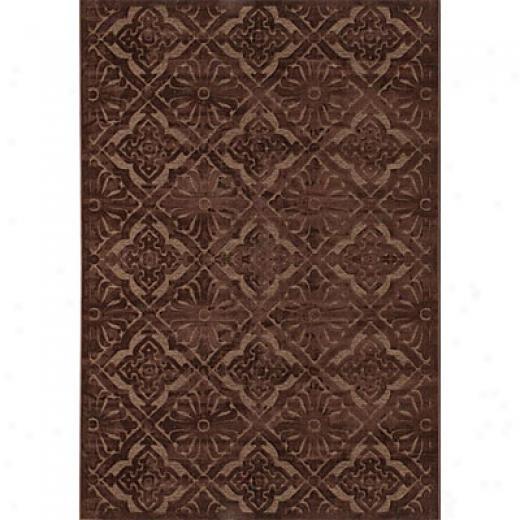 Couristan Pave 5 X 8 Diamond Arabesque Chocolate Smoky Topaz Area Rugs