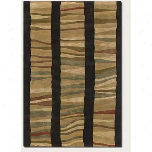 Couristan Pokhara 4 X 6 Autumn Dunes Chocolate Tan Area Rugs