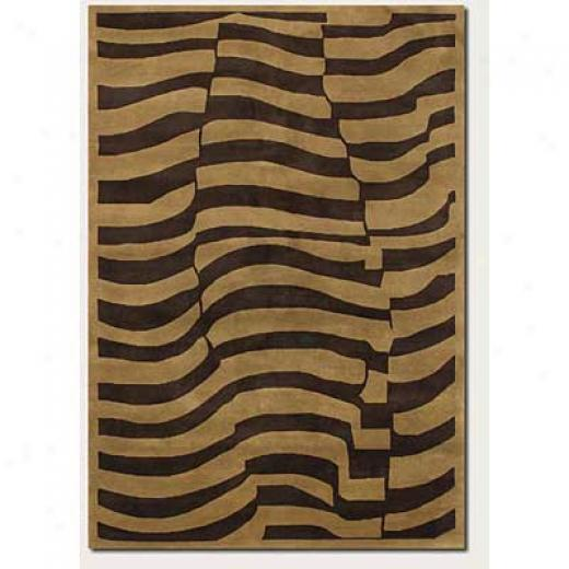 Couristan Pokhara 6 X 8 Desert Sands Chocolate Area Rugs