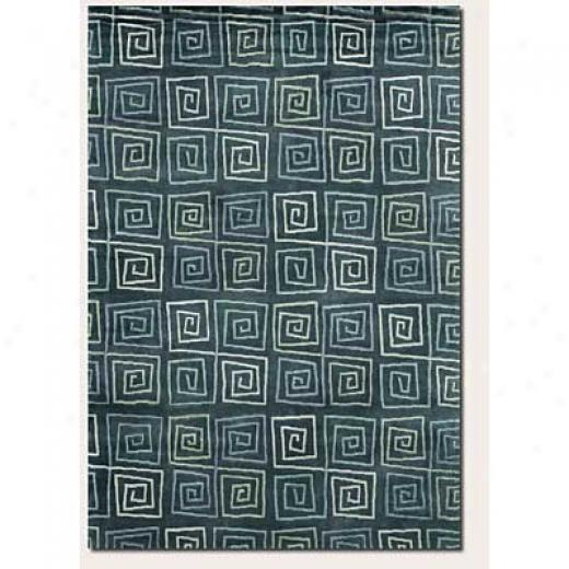 Couristan Pokhara 6 X 8 Serpentine Blue Area Rugs