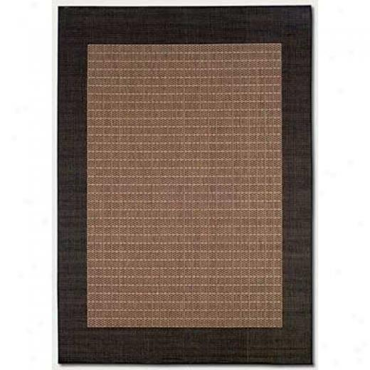 Couristan Reicfe 5 X 8 Checkered Field Cocoa Negro Area Rugs