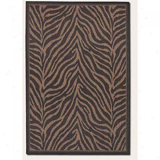 Couristan Recife 5 X 8 Zebra Black Cocoa Area Rugs