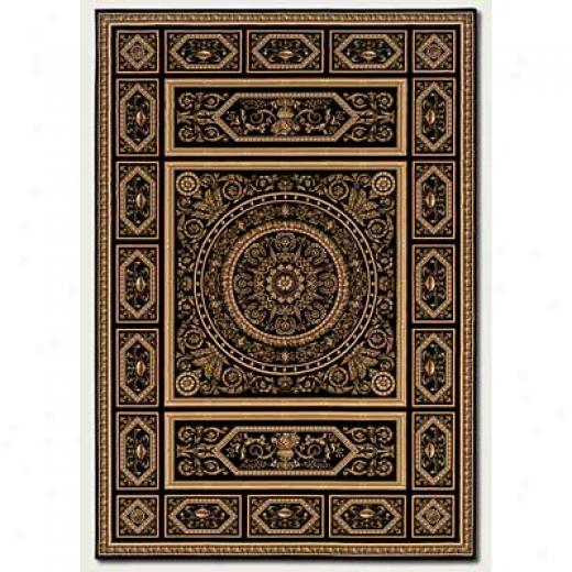 Couristan Rcooco 2 X 4 Pantheln Ebony Area Rugs