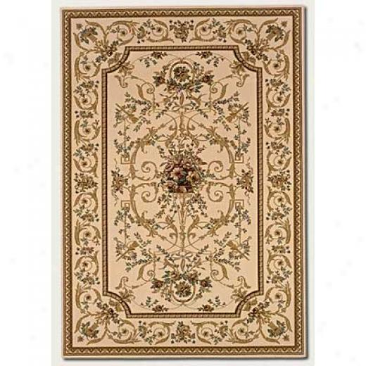 Couristan Rococo 8 X 11 Georgian Antique Creme Area Rugs