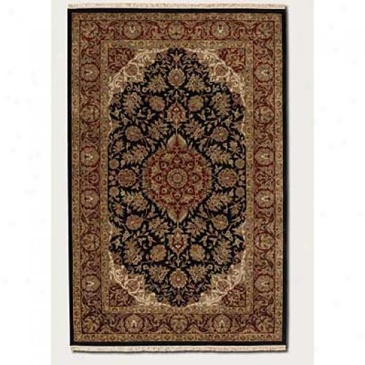 Couristan Royal Imperial 8 X 11 Safavid Black Burgundy Area Rugs