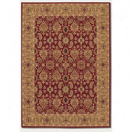 Couristan Royal Kashimar 6 X 8 All Over Vase Persian Red Area Rugs