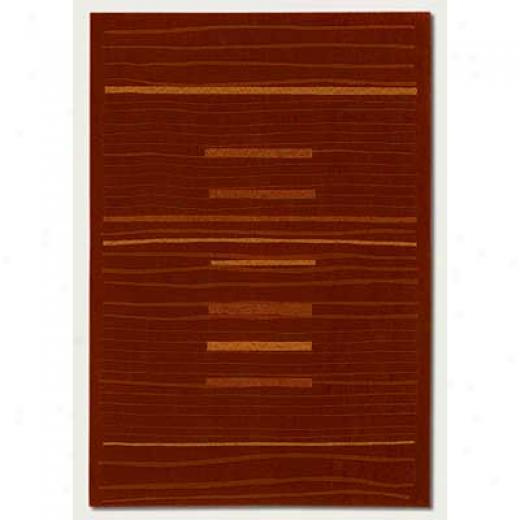 Couristan Scala 3 X 4 Upsilon Scarlet Area Rugs