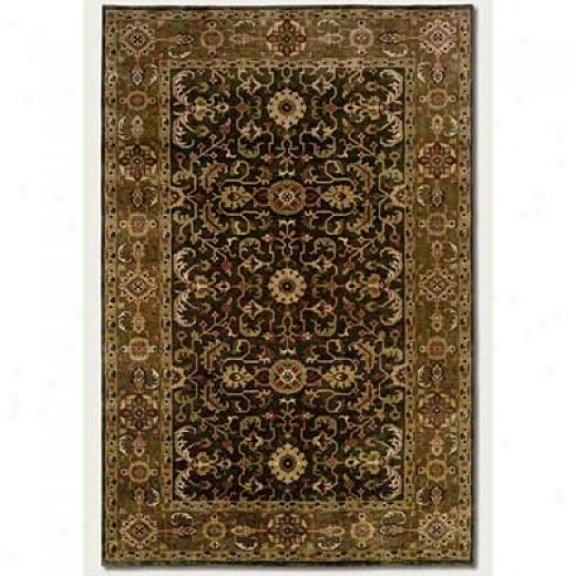 Couristan Shiraz 10 X 13 Perepedil Kuba Deep Olive Area Rugs