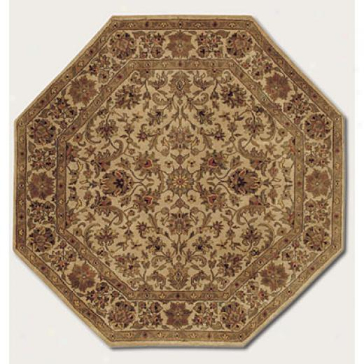 Couristan Shiraz 6 Octagon Shah Abbas Deep Ivory Area Rugs