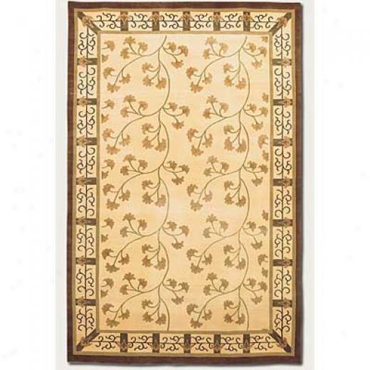 Couristan Silken Treasures 3 X 5 Silk Vine Berber Ivory Area Rugs