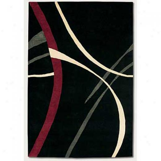Couristan Soho 4 X 5 Stigments Black Area Rugs