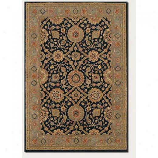 Couristan Souri 3 X 5 Khorasan Black Area Rugs