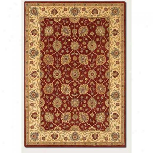 Couristan Souri 4 X 6 Herati Rust Ivory Area Rugs