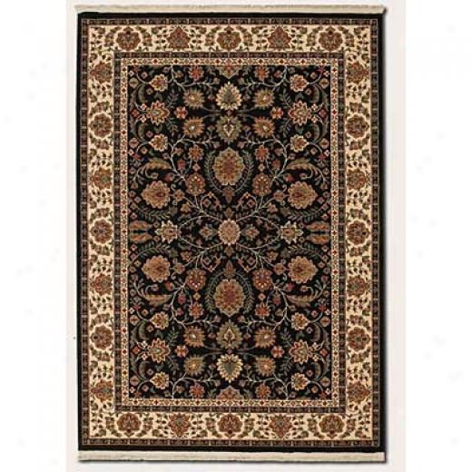 Couristan Taj Mahal 8 X 10 Floral Bidjar Black Area Rugs