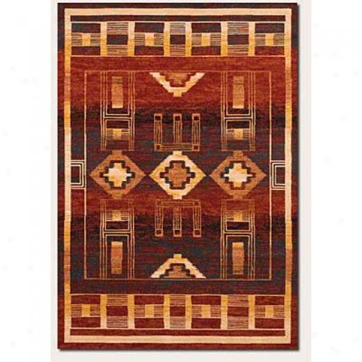 Couristan Taos Lodge 8 X 11 Red Desert Arrea Rugs