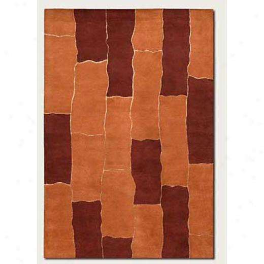 Couristan Vinyasa 10 X 13 Sunlit Path Burnt Orange Area Rugs