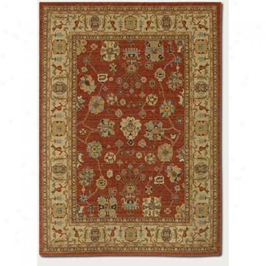 Couristan Woven Treasures 4 X 6 All Over Vase Burnished Rust Ivory Area Rugs
