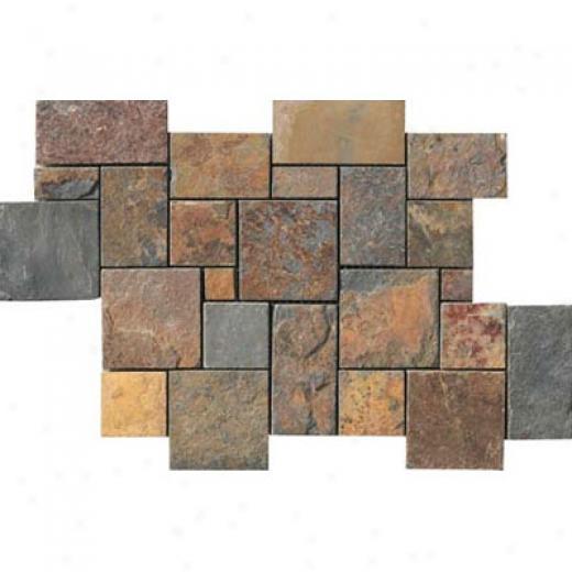 Crossville Centaur Random Mosaic Slate Tile & Stone