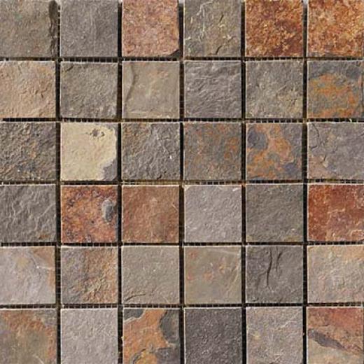 Crossville Centaur Square Mosaic 2 X 2 Slate Tile & Stone