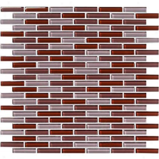 Crossville Glass Blox Blend Mosaic 1/2 X 2 Dusk/taupe Fog/brandy Tile & Stone