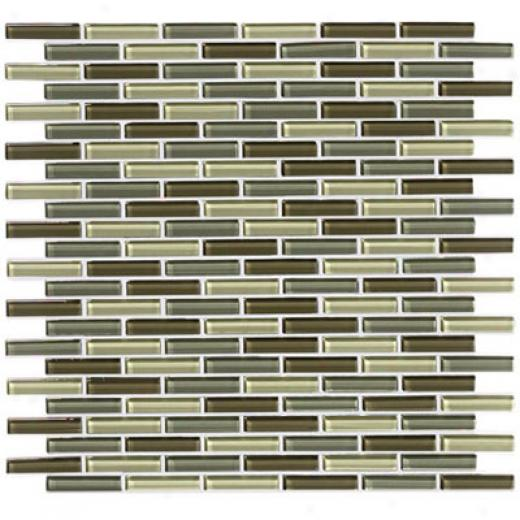 Crossville Glass Blox Blend Mosaic 1/2 X 2 Dewdrop/olive Mist/deep Sea Tile & Stone
