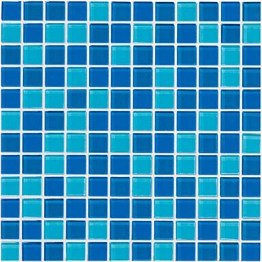 Cossville Glass Blox Blend Mosaic 1 X 1 SouthS ea/aquean/blue Grottp Tile & Stone