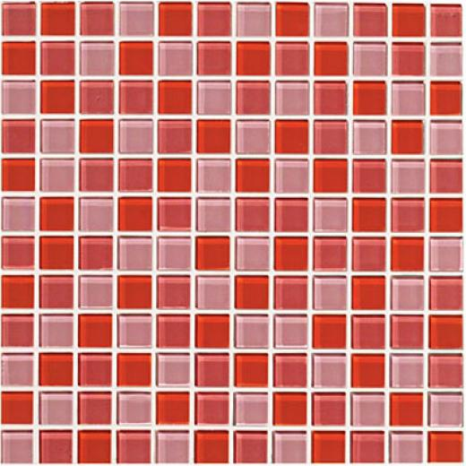 Crossville Glass Blox Blend Mosaic 1 X 1 Sunrise/rose Aura/flame Tile & Stone