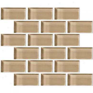 Crossville Glass Blox Brick 2 X 4 Mosaic Glisten Green Tile & Stone