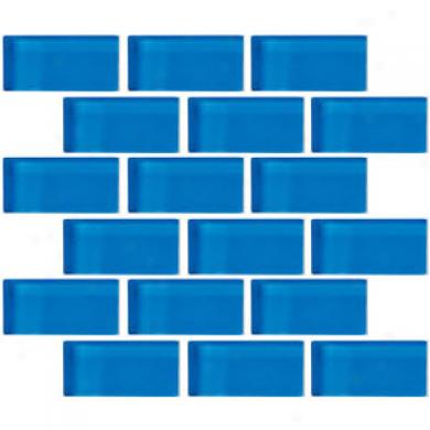 Crossville Glass Blox Brick 2 X 4 Mosaic Blue Grotto Tile & Stone