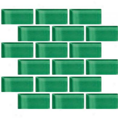Crossville Glass Blox Brick 2 X 4 Mosaic Green Glow Tile & Stone
