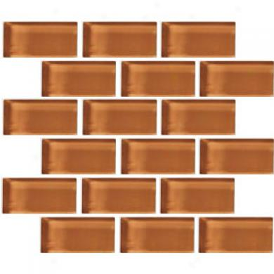 Crossville Glass Blox Brick 2 X 4 Mosaic Iced Tea Tile & Stone