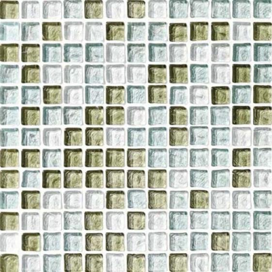 Crossville Illuminessence Water Crystal Mosaic Blenrs Cristal - eSafoam - Sea Glass Clear Tile & Stone