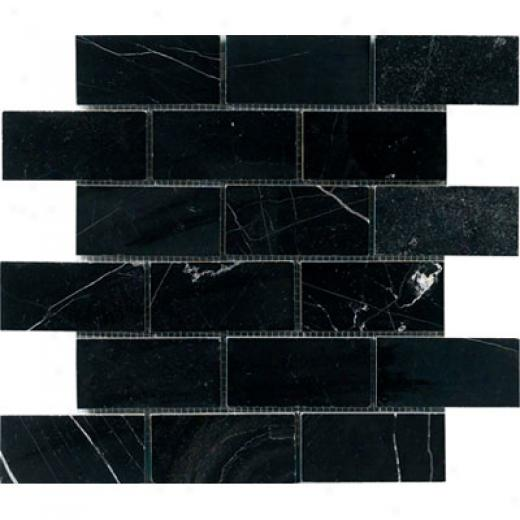 Crossville Minotaur Single Stone Mosaic Black Tile & Stone