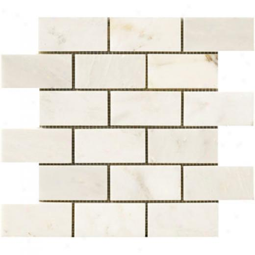 Crossville Unicorn Brick Mosaic 2 X 4 White Tile & Stone
