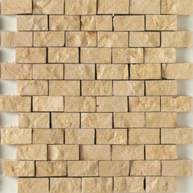 Daltile Baja Cream Split Face Mosaic 1 X 2 Baja Choice part Split Face Tile & Stone