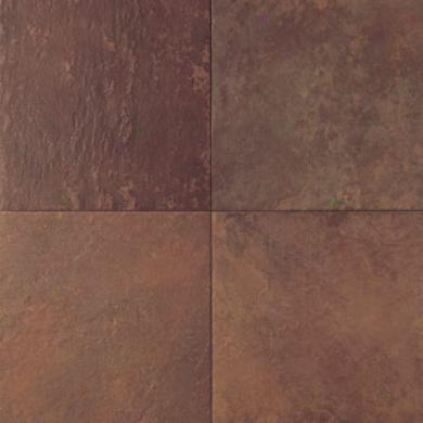 Daltile Continental Slate Inlaid Block Random (12 X 12) Indian Red Tile & Stone